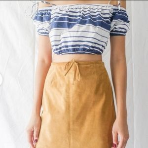 Ann Taylor Suede Pencil Skirt Size 4
